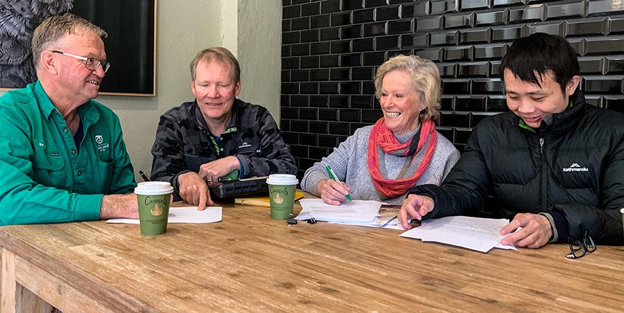 Pat O'Connor, CSIRO's Dr John Kirkegaard, CSIRO's Jing Wang Murrumburrah Landcare Group's Louise Hufton and
