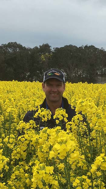 Grant and his family sow cover crops, containing a mix of nine different crop species, during summer following their winter cash crops, such as canola. PHOTO Pontifex family