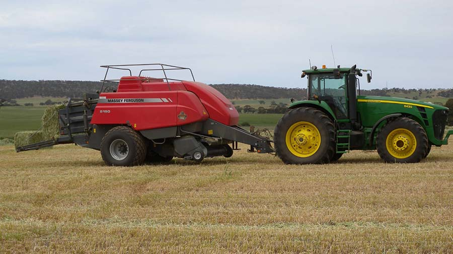Stopping weed seed set, by tactics such as cutting hay, crop topping or harvest weed seed management, is an essential part of herbicide resistance management. PHOTO Chris Preston.
