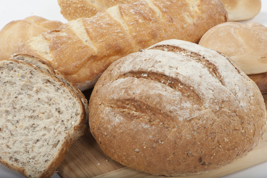 Australian bread products made from wholegrain flour.