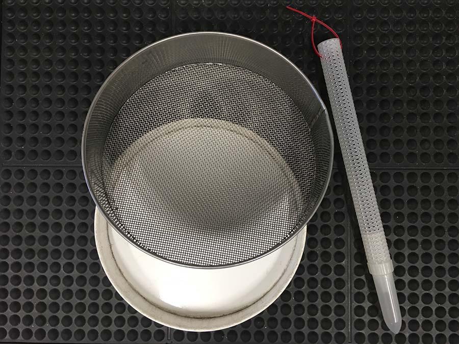 Grain sieve and probe trap
