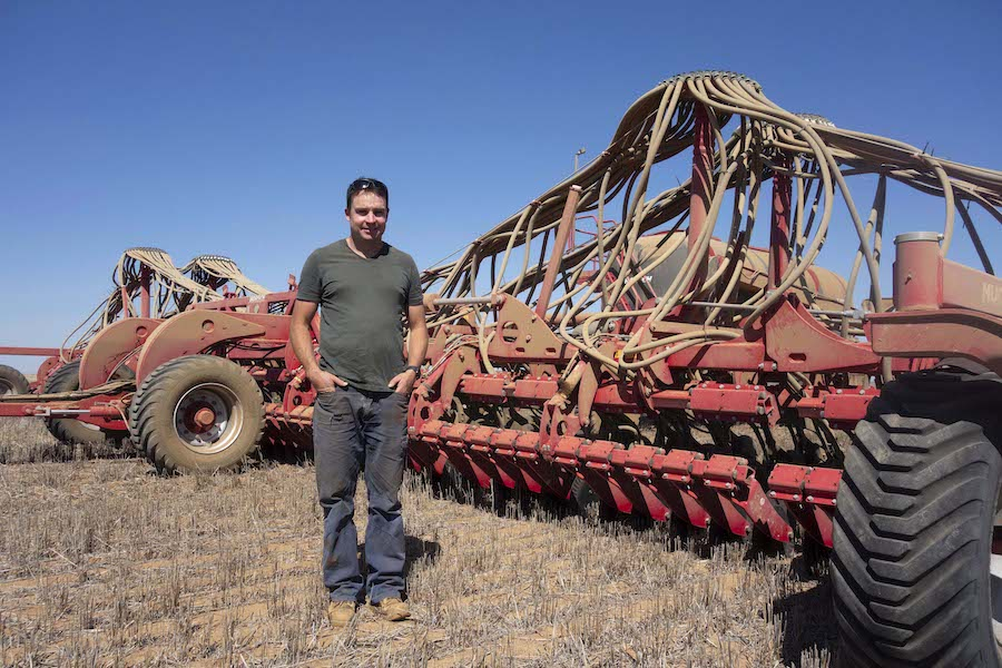 Birchip grower Tim McClelland