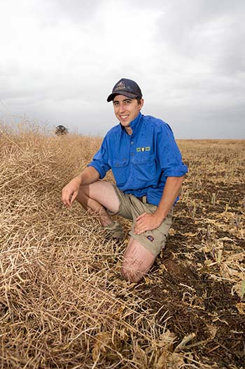 Mirrool, NSW, grower Evan Lord has been impressed with how well some crops have performed with stored soil moisture