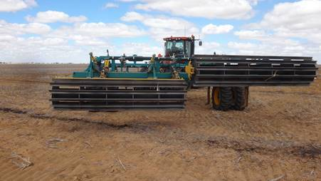 Hydraulic cage rollers are good for crumbling clods after ripping. PHOTO Bindi Isbister, WA DPIRD