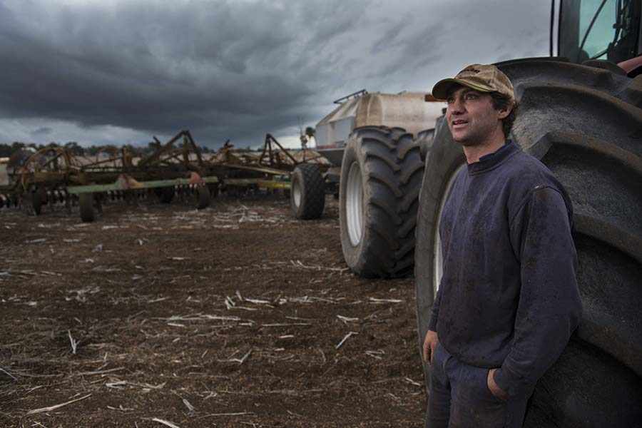 Tim Harrington is looking at how people in other primary industries, such as avocado and fish farmers, deal with labour and logistics to help improve his own farm business operations in south-west WA. PHOTO Evan Collis
