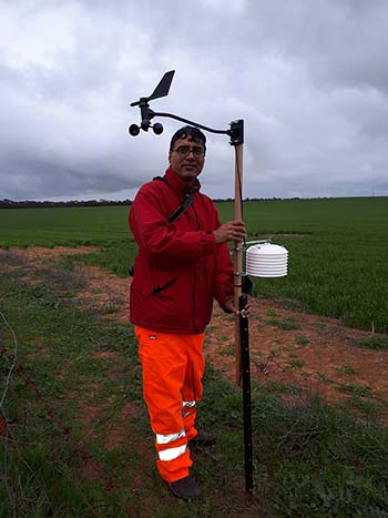 CSIRO's Dr Uday Nidumolu will lead a project to rapidly map the extent of frost and subsequent damage in wheat and barley to help growers make informed management decisions. PHOTO Dr Uday Nidumolu