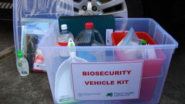 Field work and on-farm trials bring biosecurity risks that must be managed